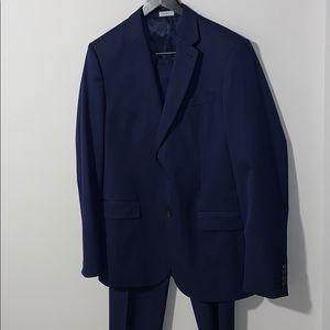 J. Ferrar Navy Suit Slim Fit